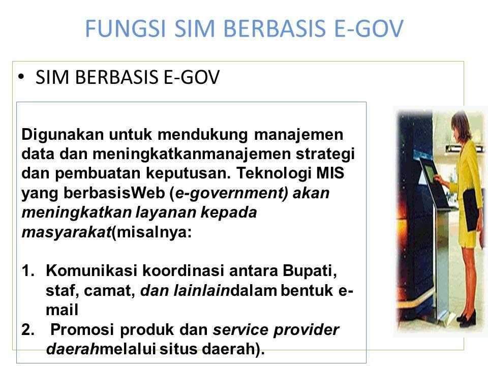 FUNGSI SIM BERBASIS E-GOV