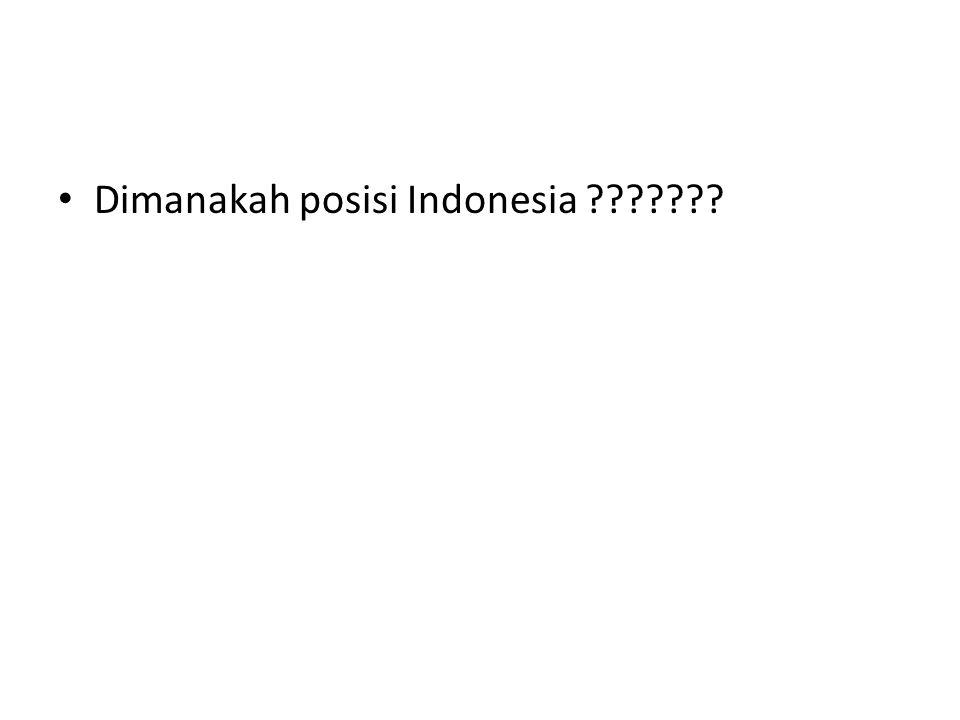 Dimanakah posisi Indonesia