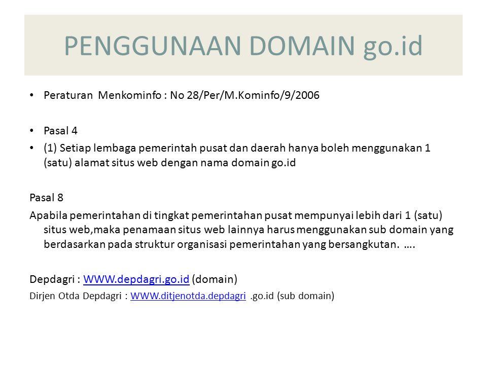 PENGGUNAAN DOMAIN go.id
