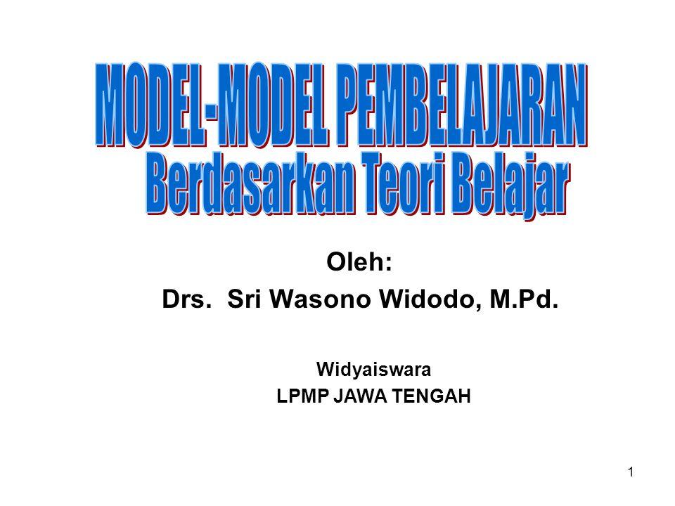 Oleh: Drs. Sri Wasono Widodo, M.Pd.