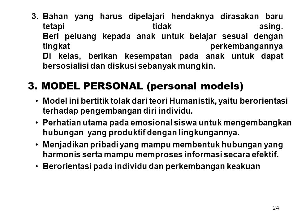 3. MODEL PERSONAL (personal models)