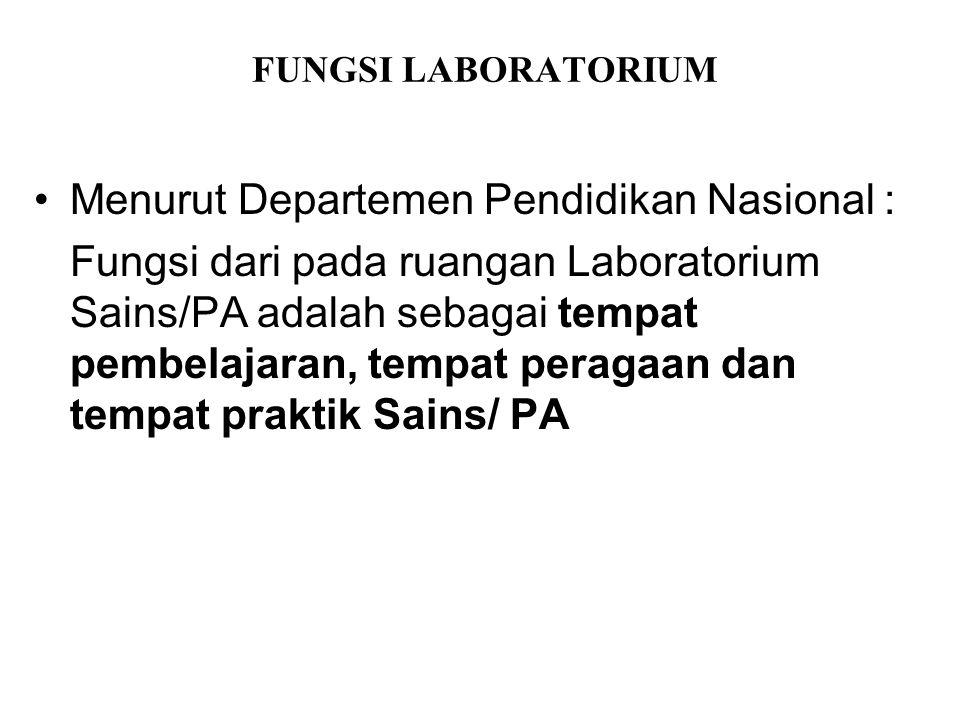 Menurut Departemen Pendidikan Nasional :