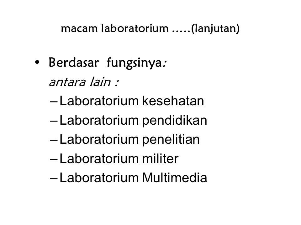 macam laboratorium …..(lanjutan)