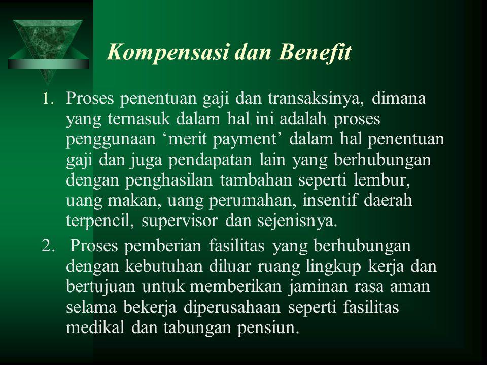 Kompensasi dan Benefit