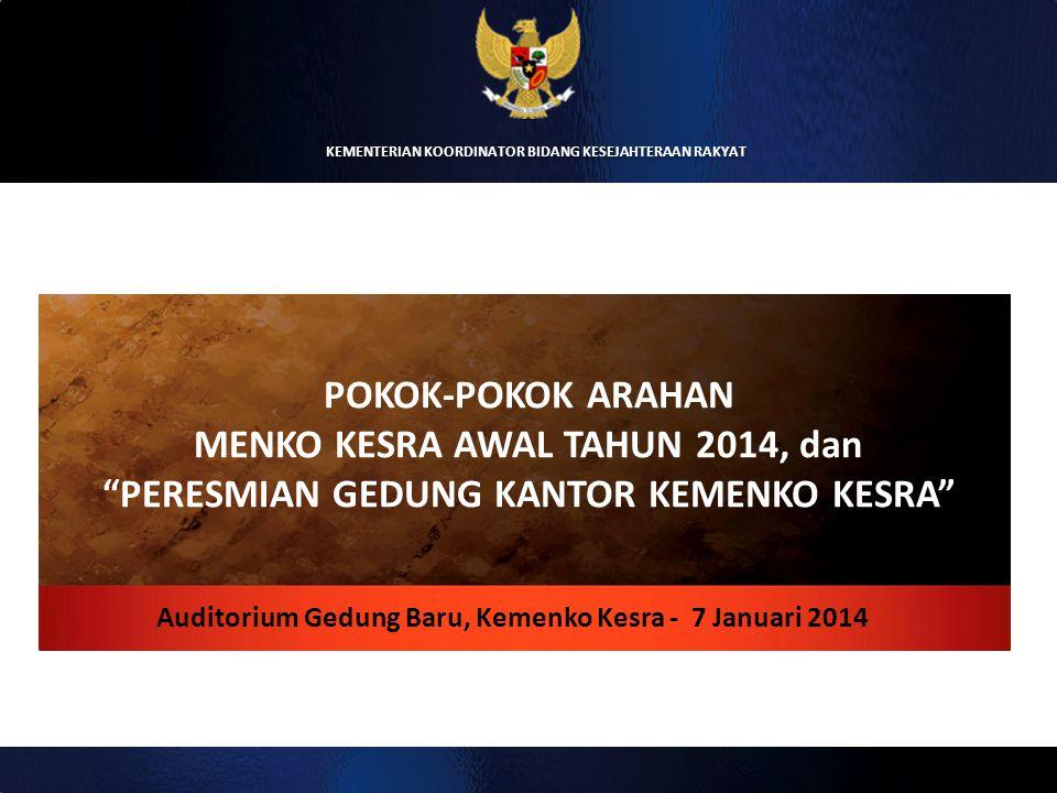 Auditorium Gedung Baru, Kemenko Kesra - 7 Januari 2014