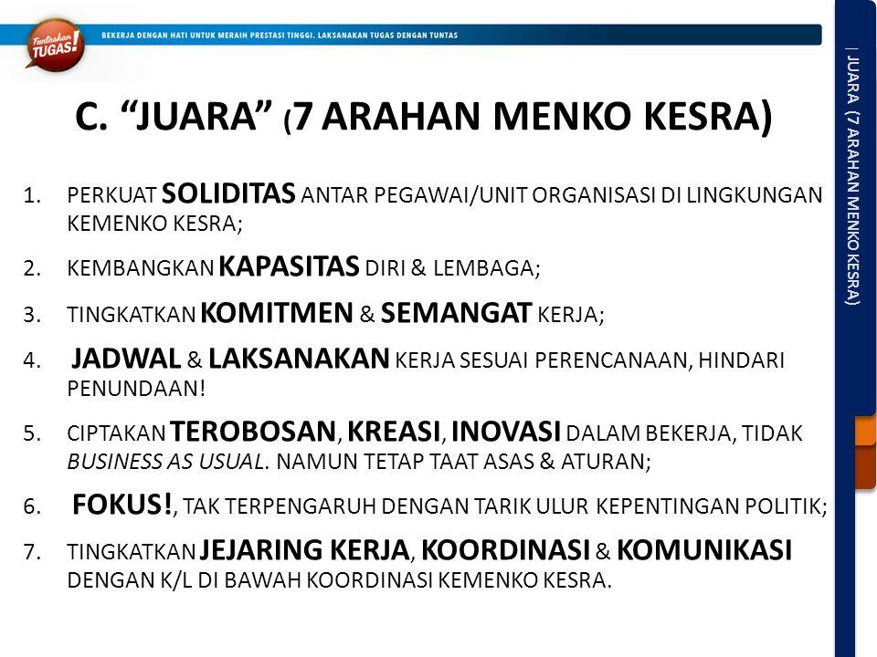 C. JUARA (7 ARAHAN MENKO KESRA)