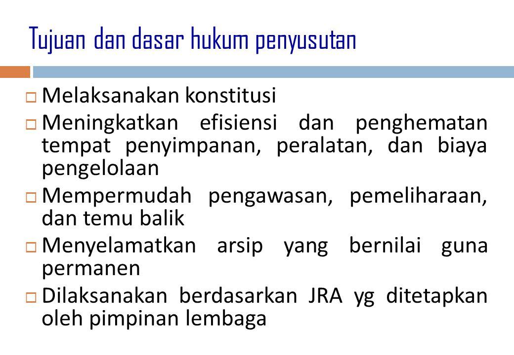 Tujuan dan dasar hukum penyusutan