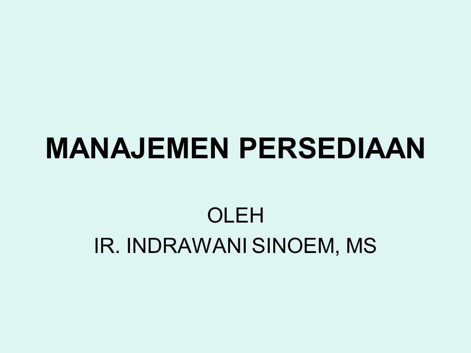 OLEH IR. INDRAWANI SINOEM, MS