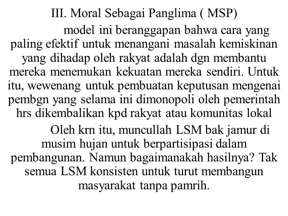 III. Moral Sebagai Panglima ( MSP)