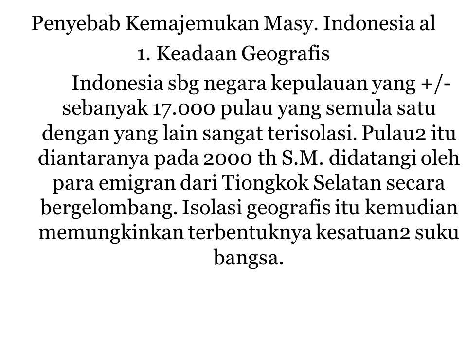 Penyebab Kemajemukan Masy. Indonesia al