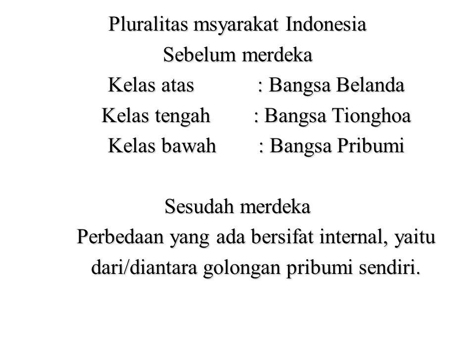 Pluralitas msyarakat Indonesia Sebelum merdeka