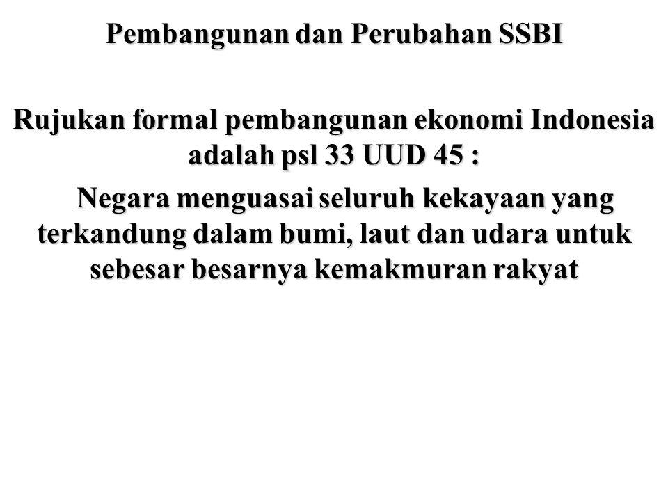 Pembangunan dan Perubahan SSBI