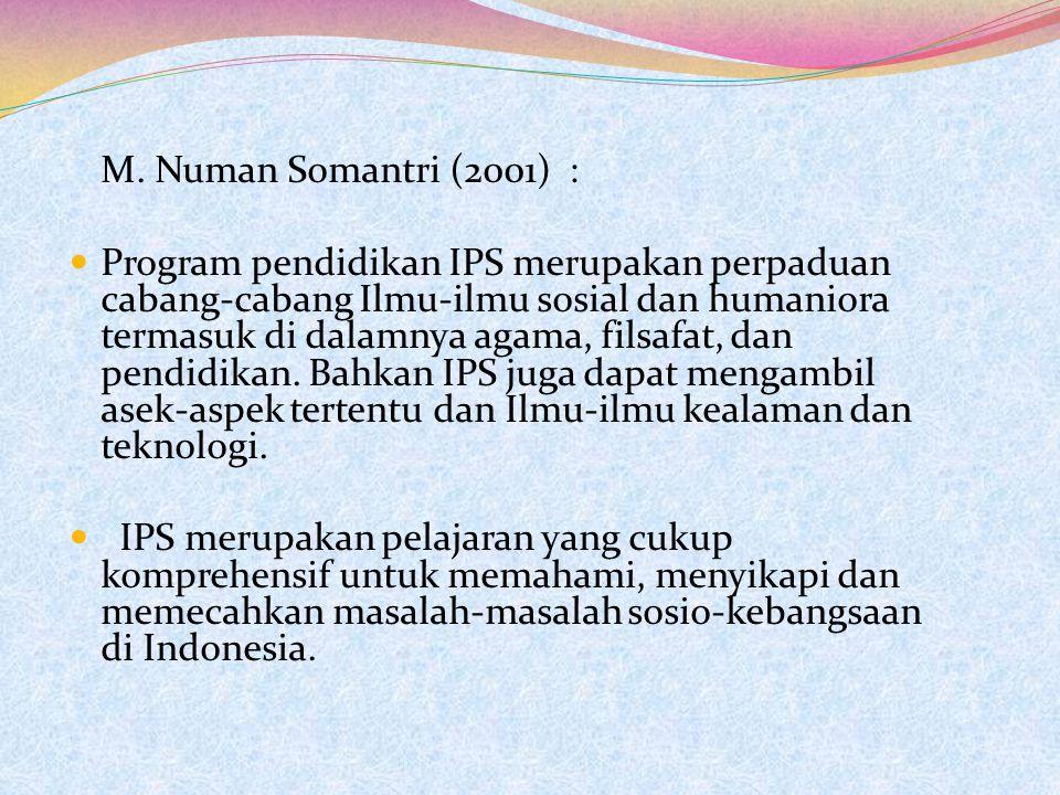 M. Numan Somantri (2001) :