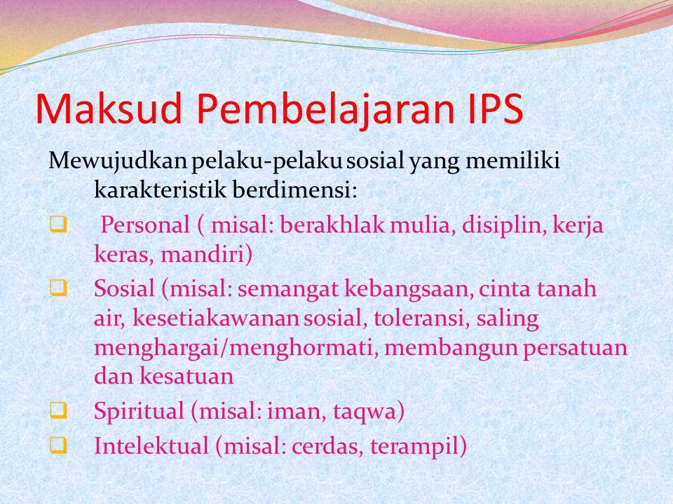 Maksud Pembelajaran IPS