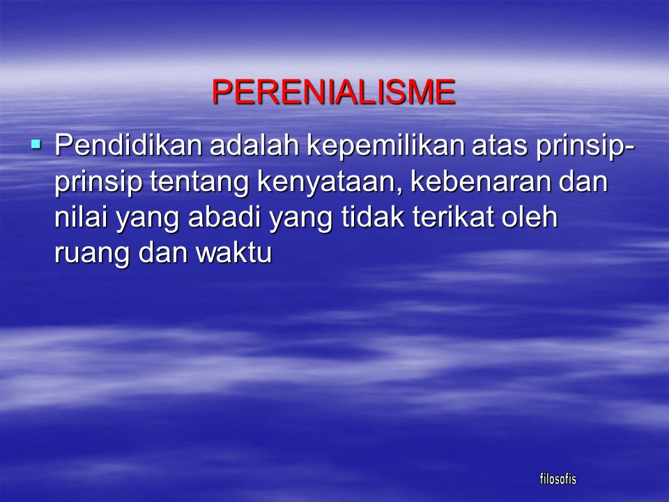 PERENIALISME