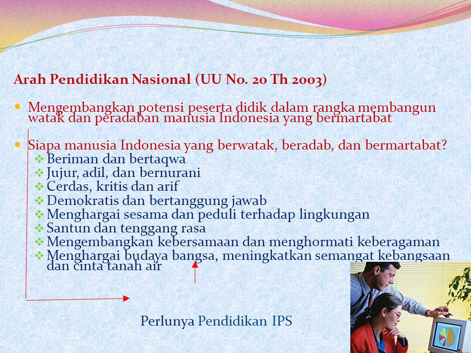 Arah Pendidikan Nasional (UU No. 20 Th 2003)