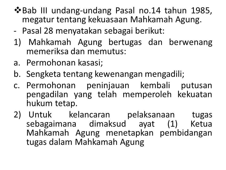 Bab III undang-undang Pasal no