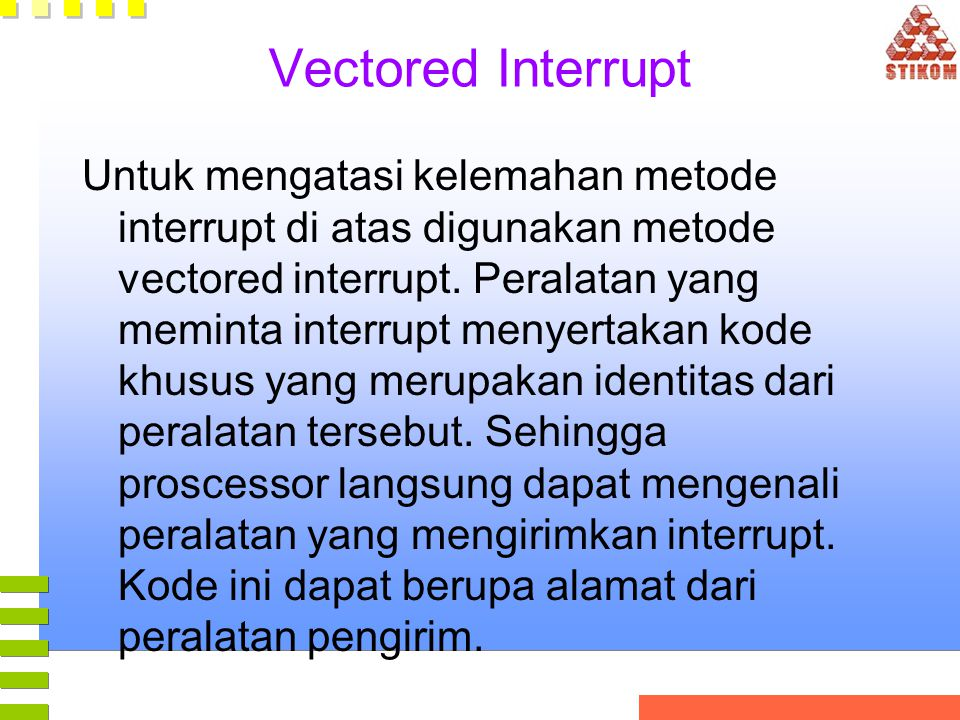 Vectored Interrupt