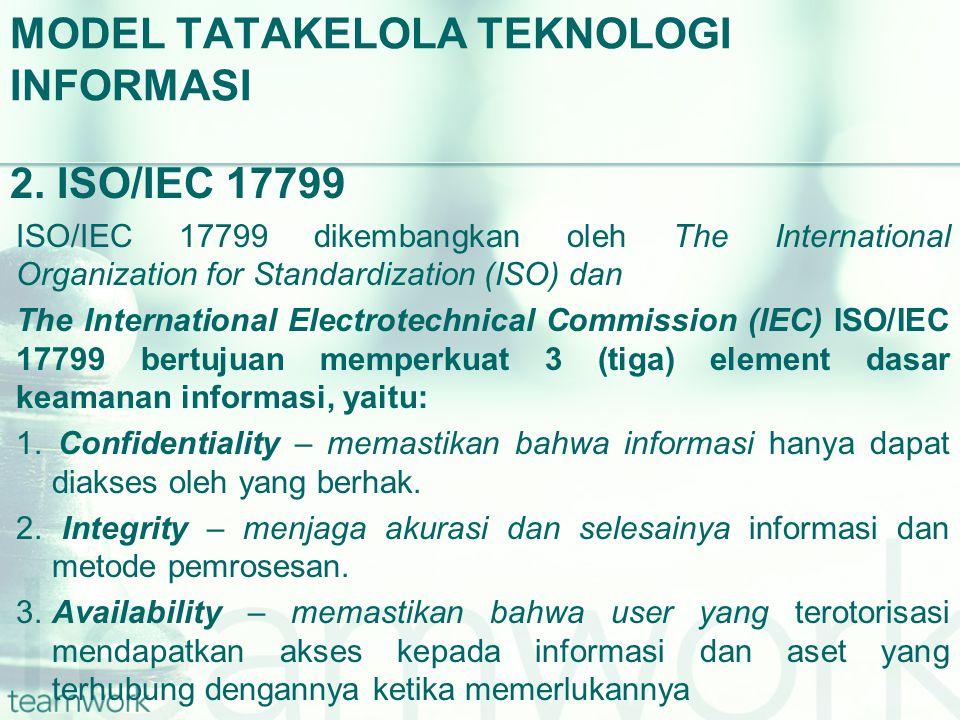 MODEL TATAKELOLA TEKNOLOGI INFORMASI