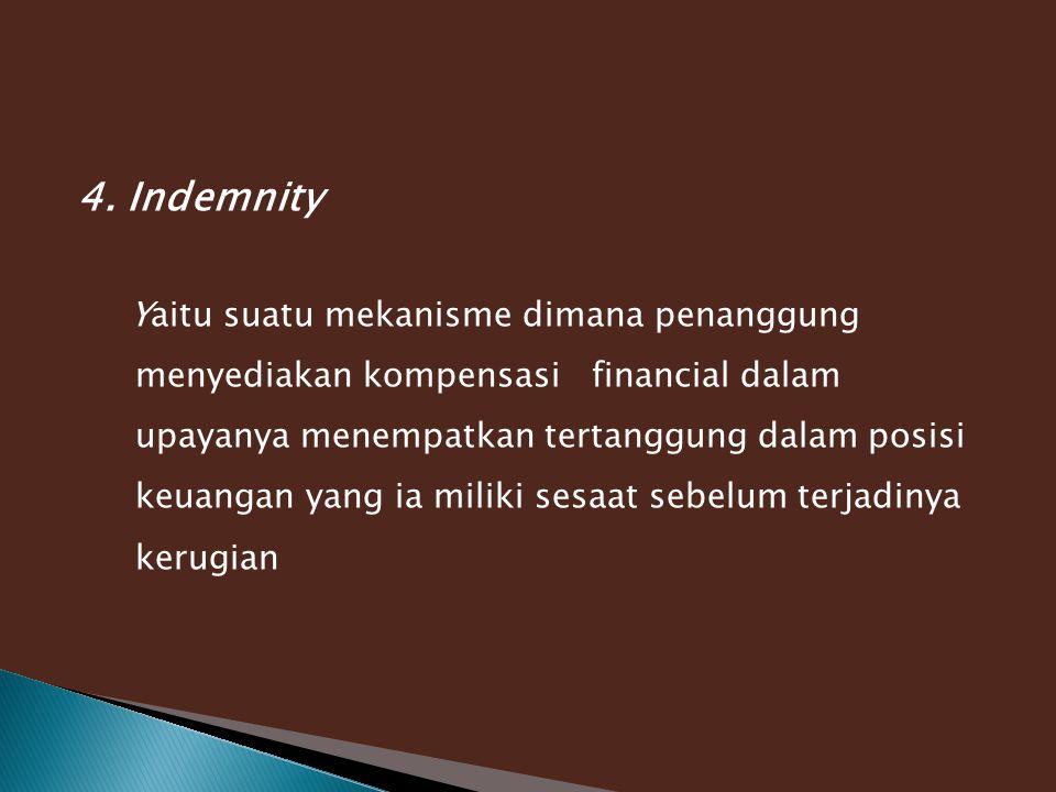 4. Indemnity