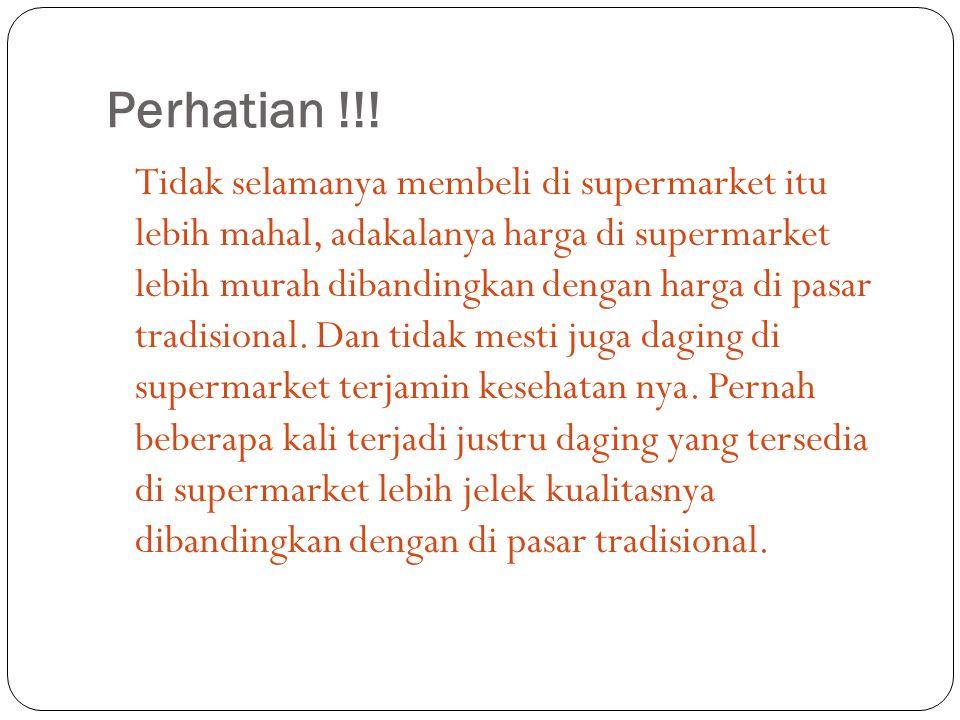 Perhatian !!!