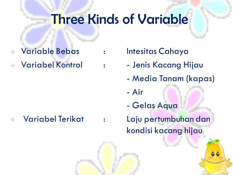 Three Kinds of Variable