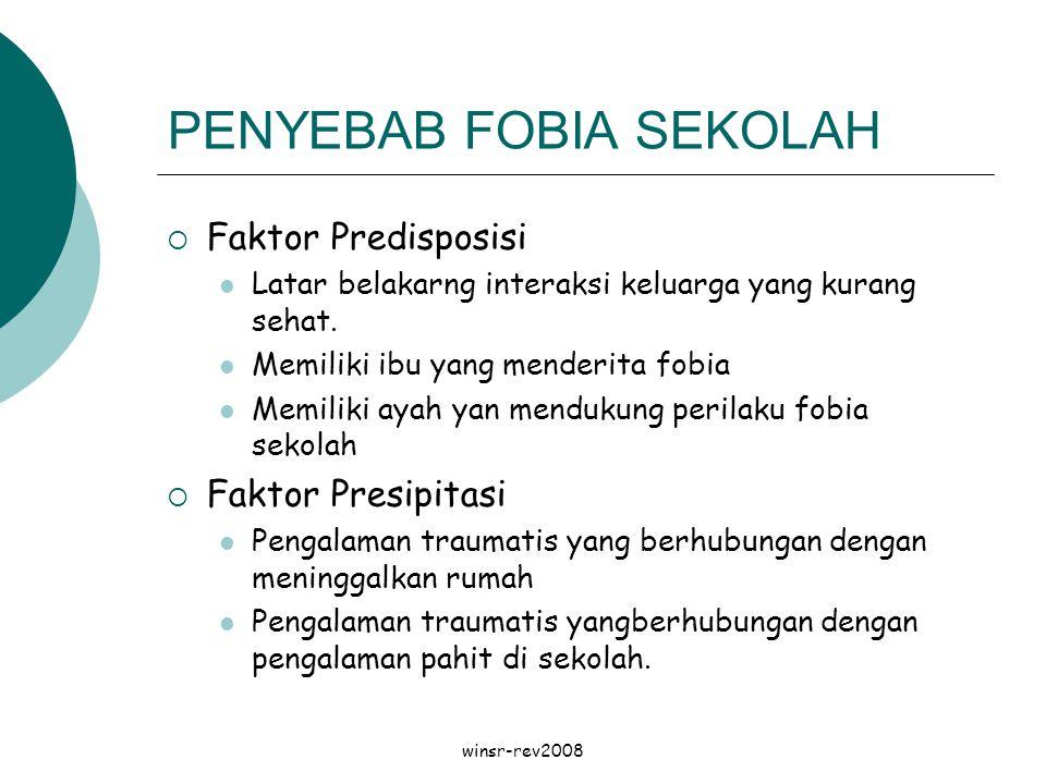 PENYEBAB FOBIA SEKOLAH