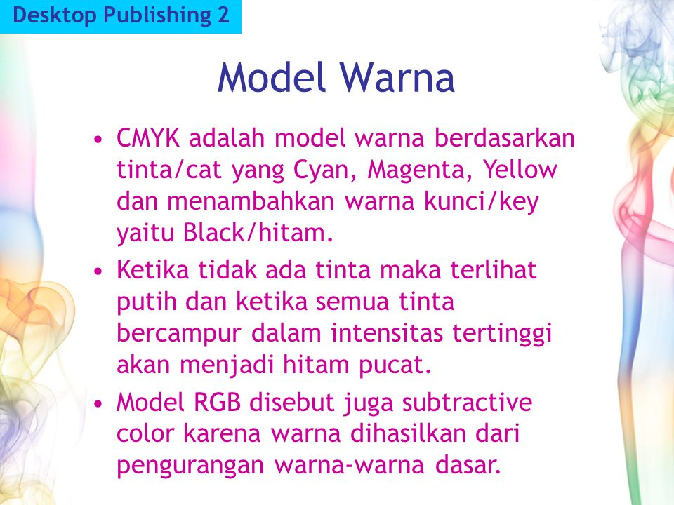 Desktop Publishing 2 Model Warna.