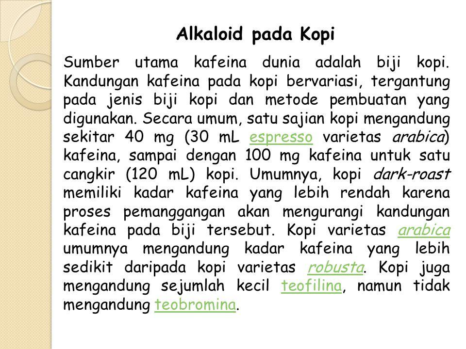 Alkaloid pada Kopi