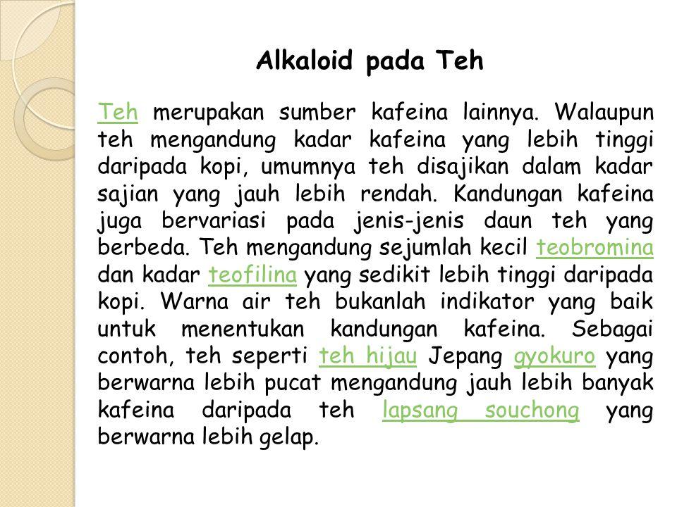 Alkaloid pada Teh
