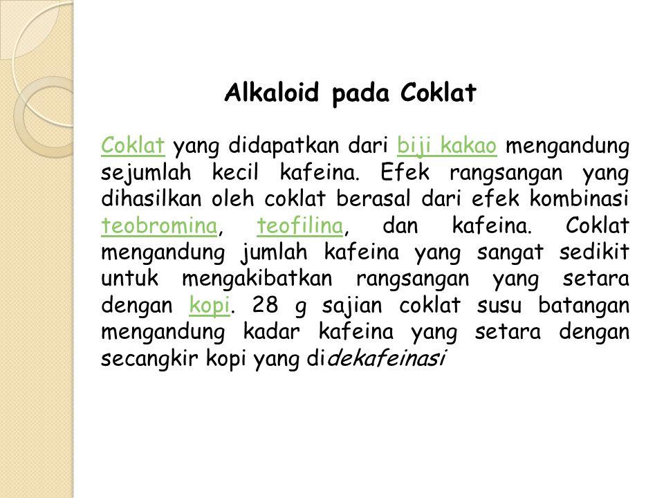 Alkaloid pada Coklat