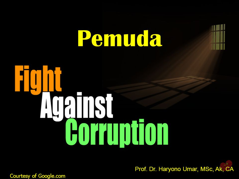 Pemuda Prof. Dr. Haryono Umar, MSc, Ak, CA Courtesy of Google.com 1 1