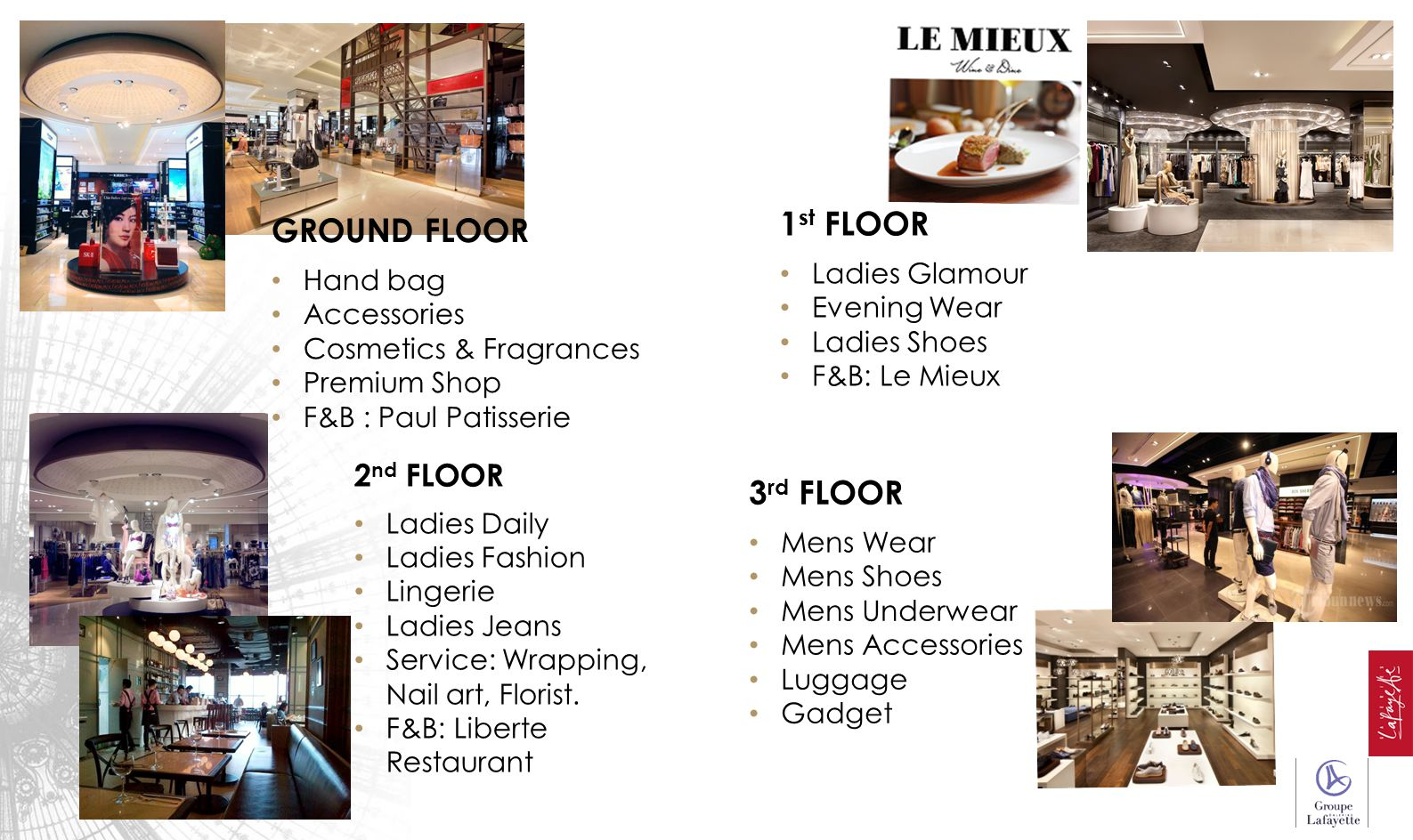 1st FLOOR GROUND FLOOR 3rd FLOOR 2nd FLOOR Ladies Glamour Hand bag