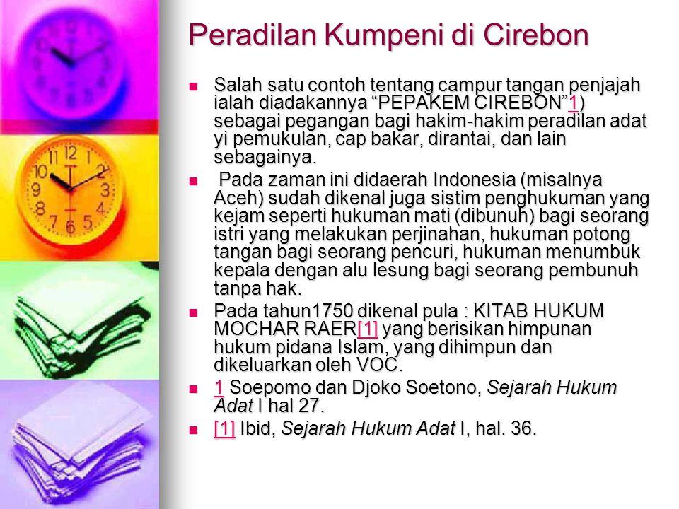 Peradilan Kumpeni di Cirebon