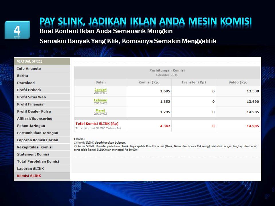 Pay Slink, JADIKAN iklan ANDA MESIN KOMISI