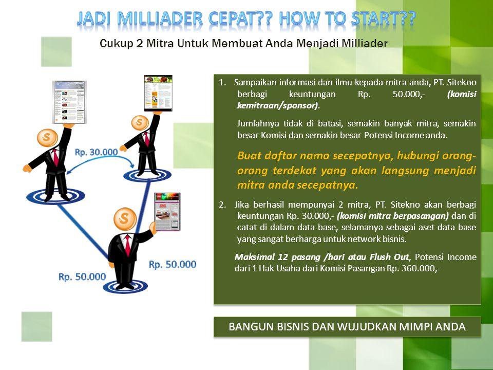 JADI MILLIADER CEPAT HOW TO START