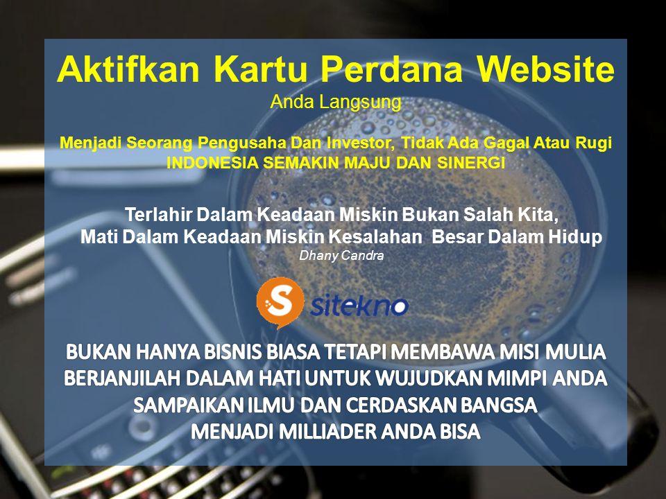 Aktifkan Kartu Perdana Website