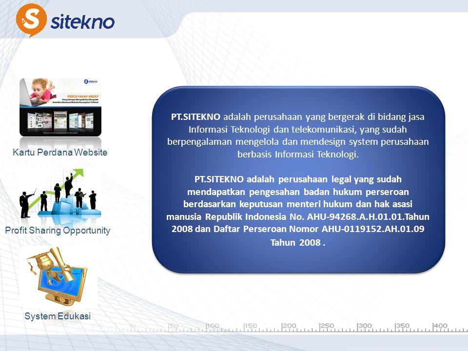 PT.SITEKNO adalah perusahaan yang bergerak di bidang jasa Informasi Teknologi dan telekomunikasi, yang sudah berpengalaman mengelola dan mendesign system perusahaan berbasis Informasi Teknologi. PT.SITEKNO adalah perusahaan legal yang sudah mendapatkan pengesahan badan hukum perseroan berdasarkan keputusan menteri hukum dan hak asasi manusia Republik Indonesia No. AHU-94268.A.H.01.01.Tahun 2008 dan Daftar Perseroan Nomor AHU-0119152.AH.01.09 Tahun 2008 .