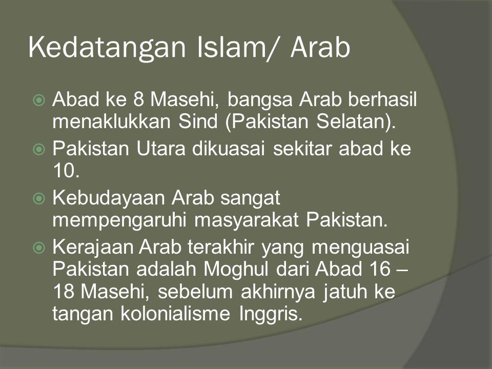 Kedatangan Islam/ Arab
