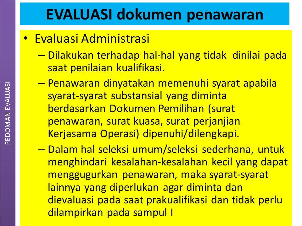EVALUASI dokumen penawaran