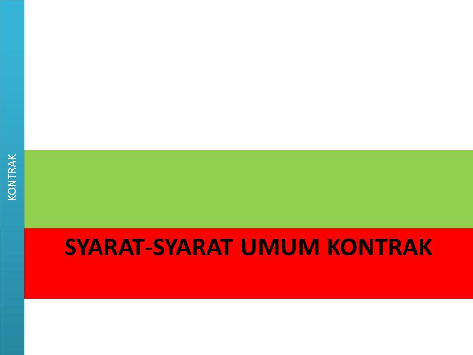 Syarat-syarat umum kontrak