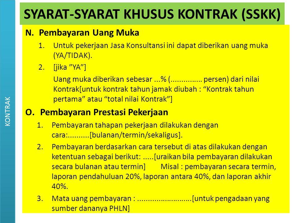 SYARAT-SYARAT KHUSUS KONTRAK (SSKK)