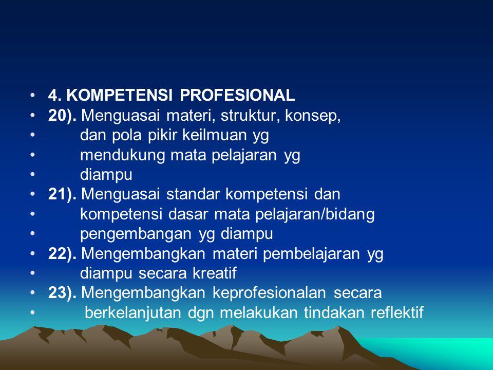4. KOMPETENSI PROFESIONAL