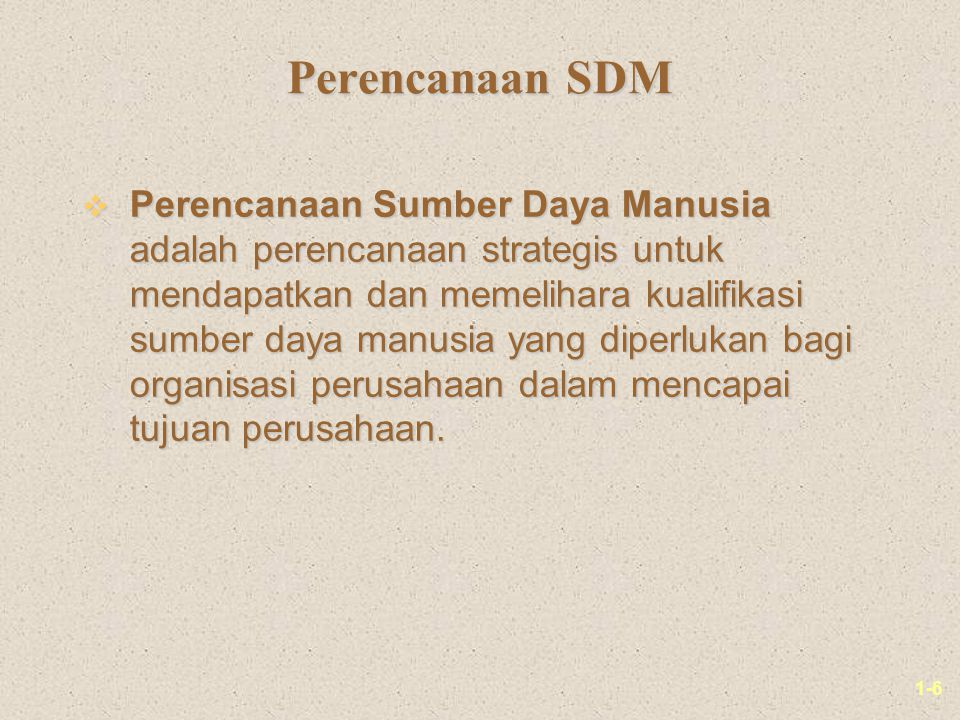 Perencanaan SDM