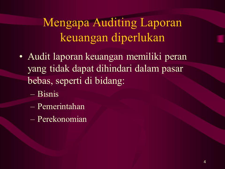 Mengapa Auditing Laporan keuangan diperlukan