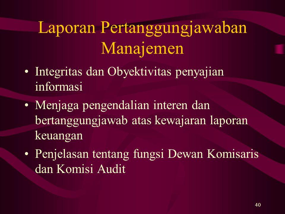Laporan Pertanggungjawaban Manajemen