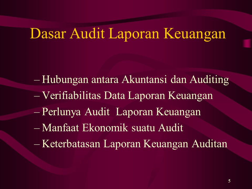 Dasar Audit Laporan Keuangan