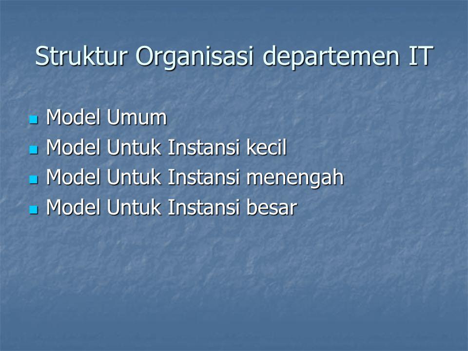 Struktur Organisasi departemen IT
