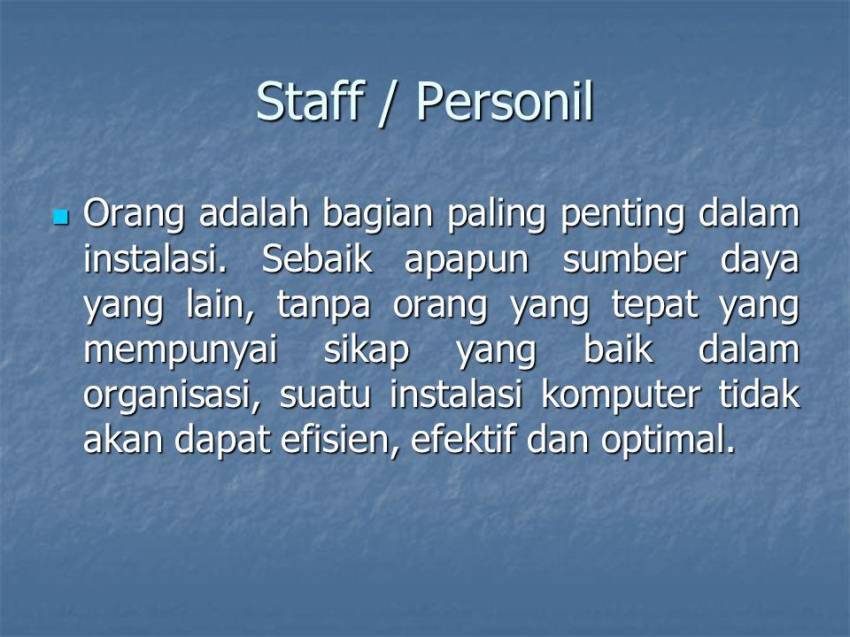 Staff / Personil