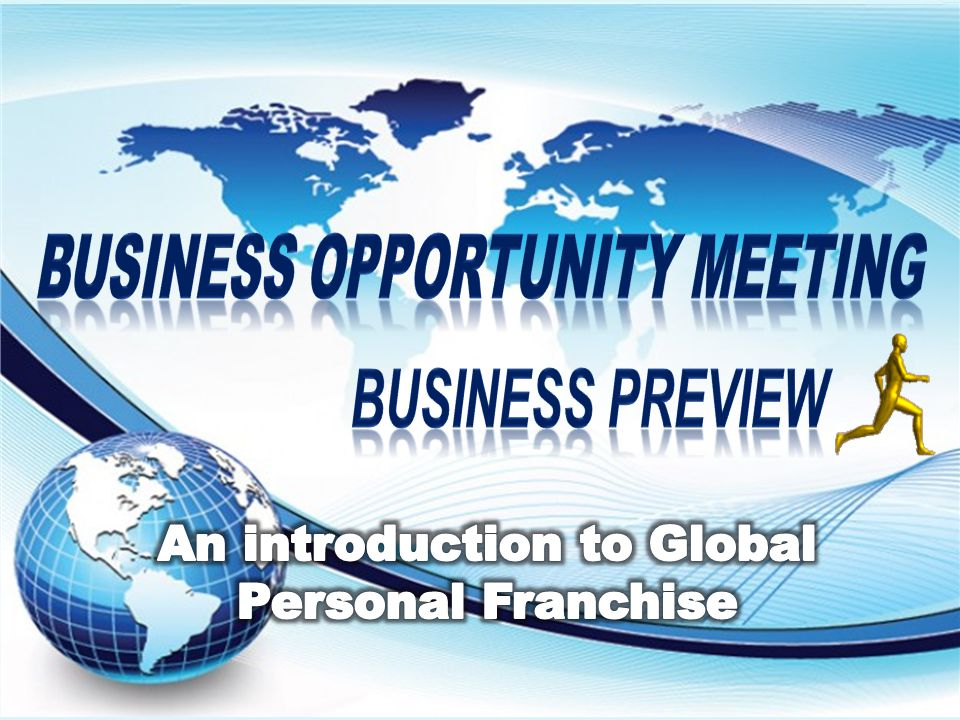 BUSINESS oppoRtunity meeting